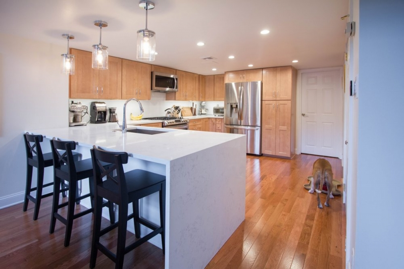 Natural Wood Transitional Kitchen Remodeling in ...